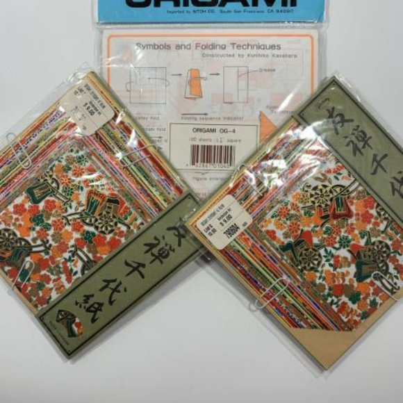 New! 3 Packs of Origami Paper